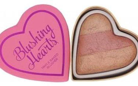 Makeup Revolution London I Heart Makeup Blushing Hearts 10 g zapečená tvářenka pro ženy Peachy Keen Heart