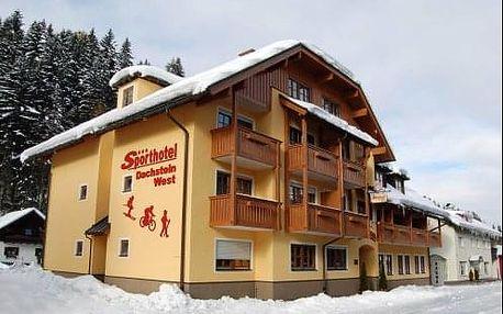 Pobyt ve sportovním hotelu Dachstein West v rakouských Alpách při skiareálu a lázních