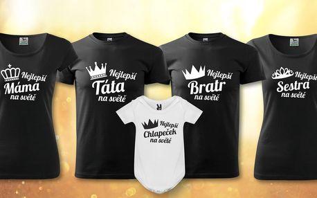 Bavlněná trička a body pro nejlepší členy rodiny