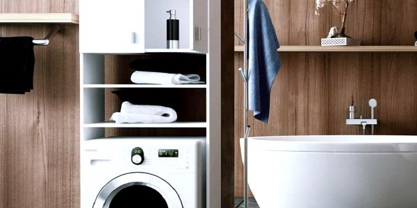Skříňka nad pračku, bílá, NATALI5