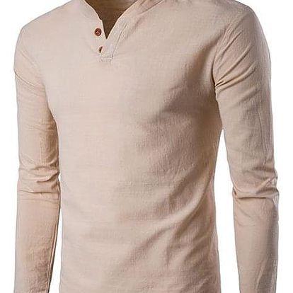 Pánské ležérní lněné tričko - Námořnická-5 - dodání do 2 dnů