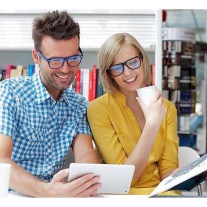 Chraňte své oči: brýlové čočky s modrým filtrem