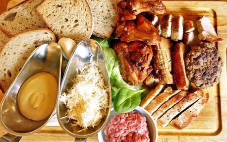Pořádná porce jídla: masové prkno pro 2 osoby