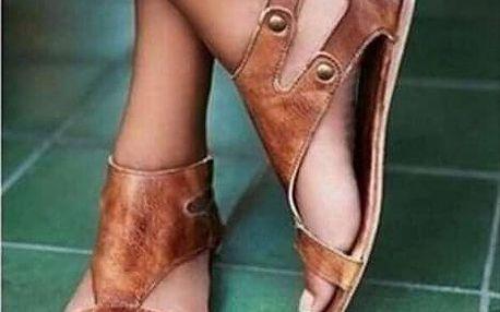 Páskové sandále pro dámy - černá-38 - dodání do 2 dnů