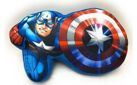 Jerry Fabrics Tvarovaný polštářek Avengers, 34 x 30 cm