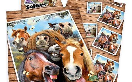 Herding Bavlněné povlečení Farm Selfie, 140 x 200 cm, 70 x 90 cm