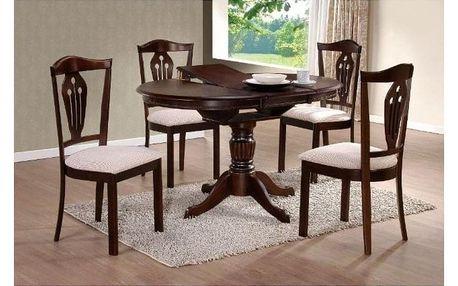 Dřevěný jídelní stůl William, tmavý ořech