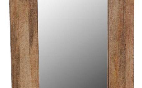 Home Styling Collection Nástěnné zrcadlo v dřevěném rámečku 70 x 50 cm