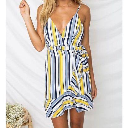 Letní mini šaty s hlubokým výstřihem - 4-velikost č. 4 - dodání do 2 dnů