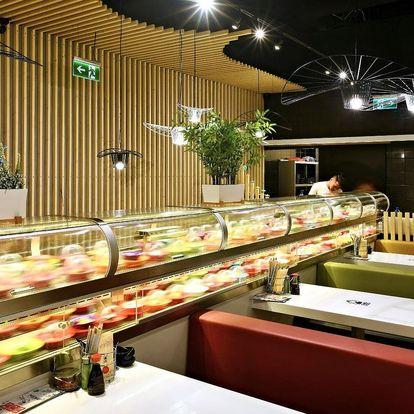 Running sushi v OC Šestka: 2hod. asijská hostina