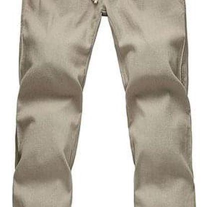 Plátěné kalhoty - Tmavě Modrá-28 - dodání do 2 dnů
