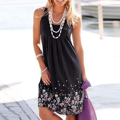 Dámské šaty na léto - Černá-velikost č. 2 - dodání do 2 dnů