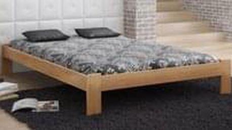 Dřevěná postel Ada 180x200 + rošt ZDARMA - borovice