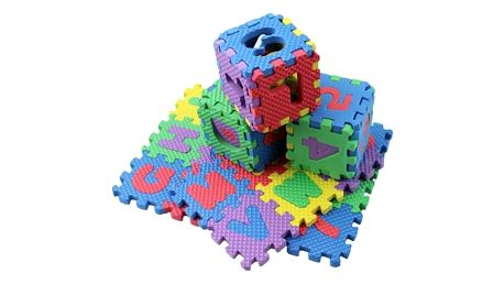 Pěnové puzzle s písmenky a čísly pro děti - 36 dílů - dodání do 2 dnů