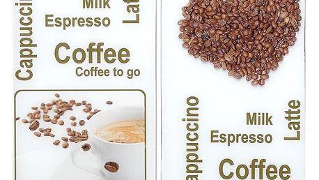 Ochranné skleněné panely COFFEE EXPERIENCE na sporák – 2 ks, WENKO