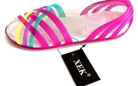 Barevné dámské sandálky - Zelená_velikost č. 35 - dodání do 2 dnů