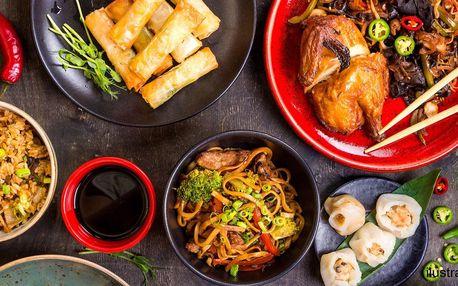 Otevřené vouchery na hostinu v čínské restauraci