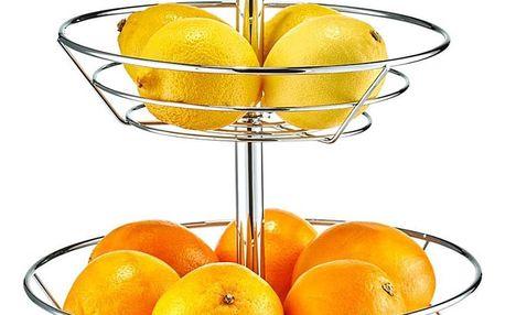 Podnos pro ovoce, 2 patra,chromovana ocel, ZELLER 4003368273020