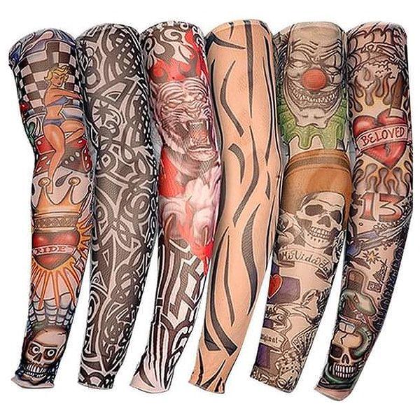 Falešné tetování - elastický rukáv - 6 ks - dodání do 2 dnů