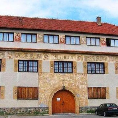 Pobyt v penzionu V Zahraničí v Bořeticích s polopenzí pro 2 osoby