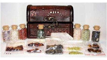 Truhla plná vzácných minerálů pro pevné zdraví a ochranu včetně poštovného