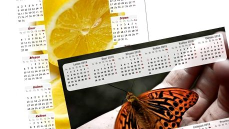 Roční nebo měsíční nástěnný kalendář z vlastních fotografií