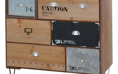 Home Styling Collection Skříňka INDUSTRIAL LOOK - úložný box se 6 zásuvkami