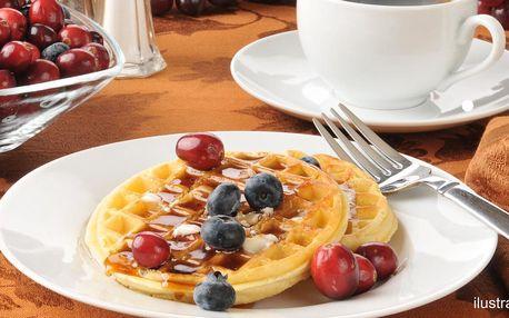 Slané či sladké waffle dle výběru a nápoj k tomu