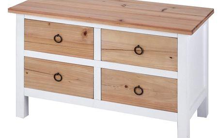 Home Styling Collection Dřevěný úložný box s 4 zásuvkami, 38x51 cm