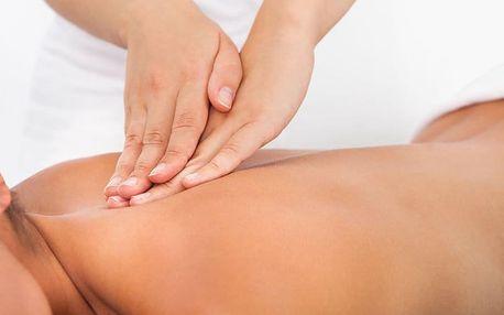 30min. antistresová masáž hrudní a krční páteře, ramen a hlavy
