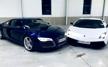 Jízda ve 2 supersportech Audi R8 V10 Plus a Lamborghini Gallardo