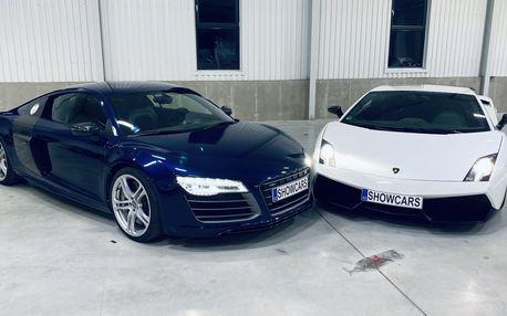 Jízda ve 2 supersportech Audi R8 V10 Plus a Lamborghini Gallardo