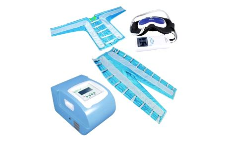 Celotělová přístrojová lymfodrenáž včetně uvolnění uzlin a masáže obličeje