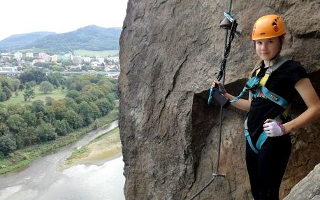 Via Ferrata: lezení s instruktorem po Pastýřské stěně pro 1-3 osoby