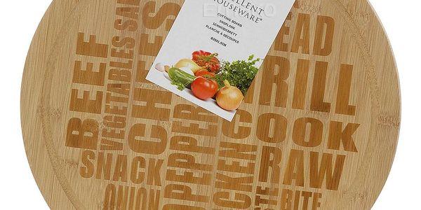 EH Excellent Houseware Bambusová deska na sýry a lehké občerstvení2