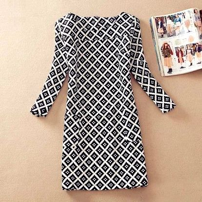Elegantní dámské šaty s krásnými vzory - Varianta 4 (velikost M) - dodání do 2 dnů