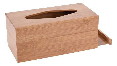 Koopman Bambusový box na kapesníky Lina, 24,5 cm