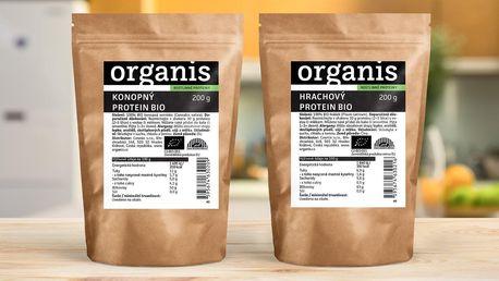 Hrachové a konopné proteiny Organis v bio kvalitě