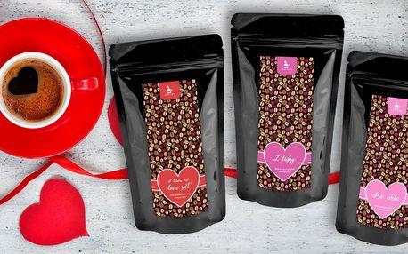 Dárkové balení valentýnské kávy s příchutěmi