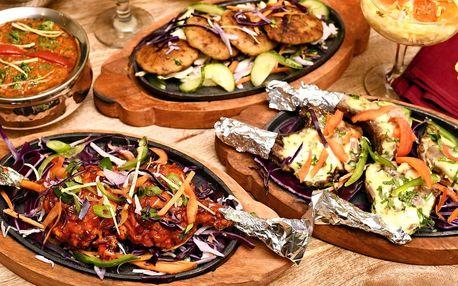 Indická hostina pro dva: s masem či vegetariánská