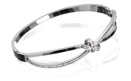 Fashion Icon Náramek chirurgická ocel kruh s krystalky