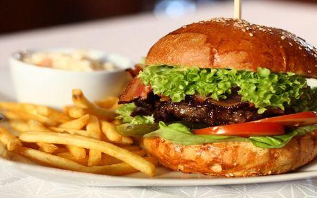 Hovězí burger s hranolky pro 1 i 2 osoby