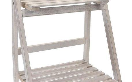 Dřevěný skládací stojan Bois, bílá