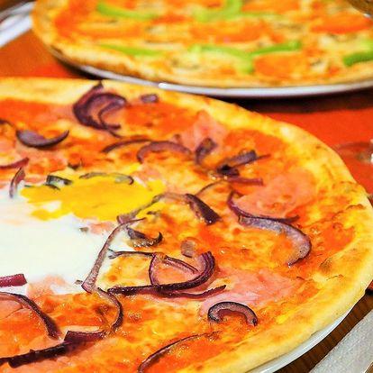 2 velké pizzy podle výběru z 19 druhů