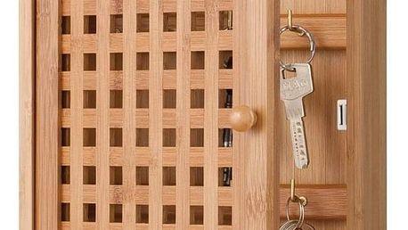 Bambusový věšák pro ukládání klíčů, 27x19x6 cm, ZELLER