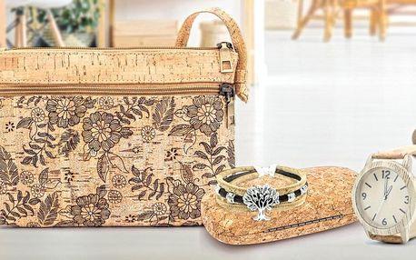 Peněženky, psaníčka i hodinky z ekologického korku