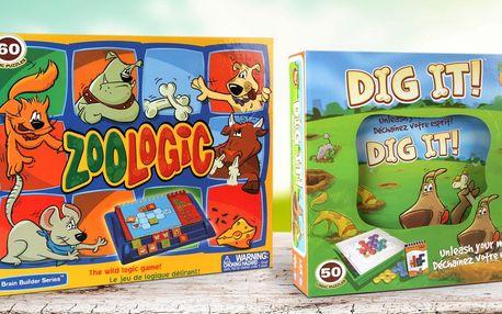 Dig It a Zoologic: logické dětské hry pro 1 hráče