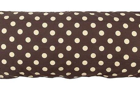 4Home Povlak na Relaxační polštář Náhradní manžel Puntík Čokoláda, 55 x 180 cm