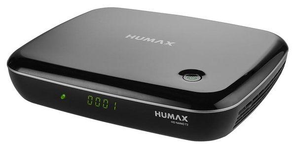 HUMAX NANO T2 PŘIJÍMAČ HEVC HBBTV USB RC2