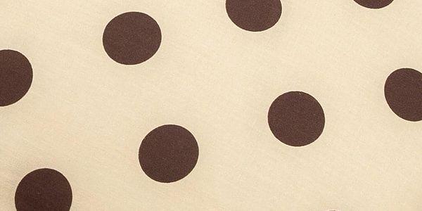 4Home Povlak na Relaxační polštář Náhradní manžel Puntík Čokoláda, 55 x 180 cm2